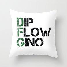 Dip, Flow, Gino Throw Pillow