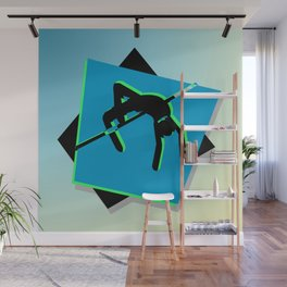 High-level jumper in the athletics Wall Mural