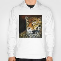 jaguar Hoodies featuring Jaguar by Claudia Hahn