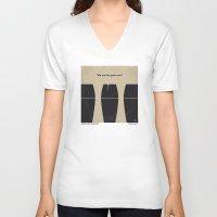 prometheus V-neck T-shirts featuring No157 My Prometheus minimal movie poster by Chungkong