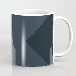 Muted Blue Chevron Arrow Stripes Coffee Mug