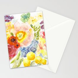 Long Live Summer - Brilliant colors of the garden's abundance - Flowers Fruit Vegetables Berries Stationery Cards