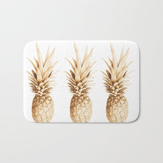 Pineapples and illusion Bath Mat