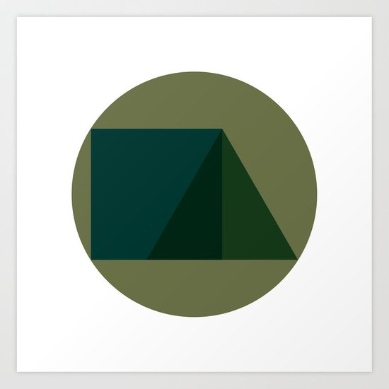#249 Triad – Geometry Daily Art Print