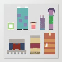 monsters inc Canvas Prints featuring Monsters Inc. by Raquel Segal