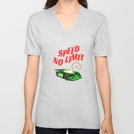 """Made specially for auto-racing lovers out there! Makes a nice gift too! """"Speed No Limit"""" tee design Unisex V-Neck"""