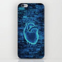 Gamer Heart BLUE TECH / 3D render of mechanical heart iPhone Skin