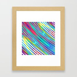 Linear gradience Framed Art Print