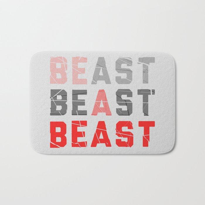 Be a Beast Bath Mat