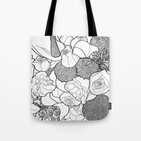 tapestry Tote Bags featuring Tapestry by Madame Mim