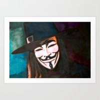 V for Anonymous Art Print