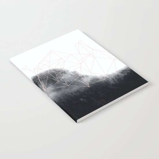 Abstract mountains geometry Notebook