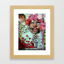 Crazy Juana Sings to the Moon Framed Art Print