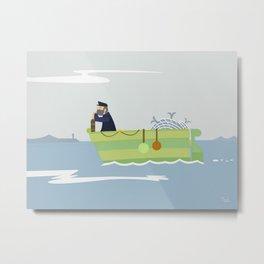 Boat Beach Wall Art, Beach Art Nursery Decor, Nursery Wall Art for Boys Room Metal Print