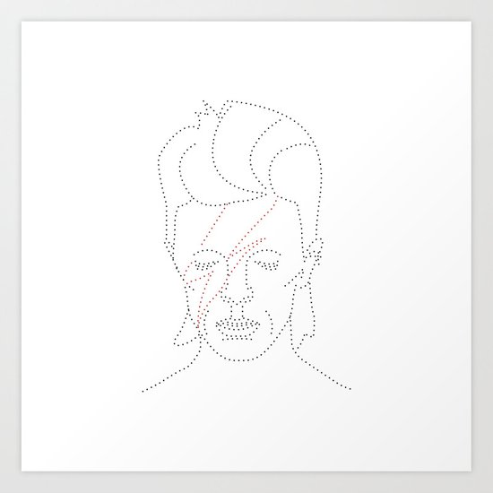 Dot and Roll - David Art Print