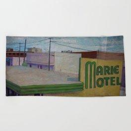 Panama City Marie Motel Beach Towel