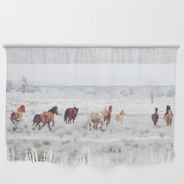 Winter Horses Wall Hanging