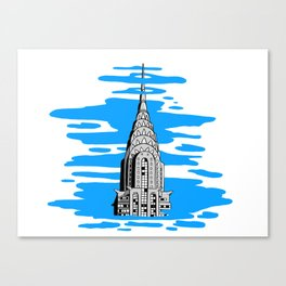 Shine like the top of the Chrysler Building! Canvas Print