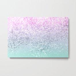 Mermaid Girls Glitter #1 (2019 Pastel Version) #shiny #decor #art #society6 Metal Print