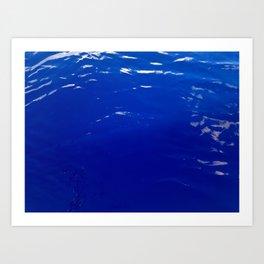 Neon Blue Ocean Art Print