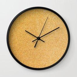 Gold Glitter Texture Wall Clock