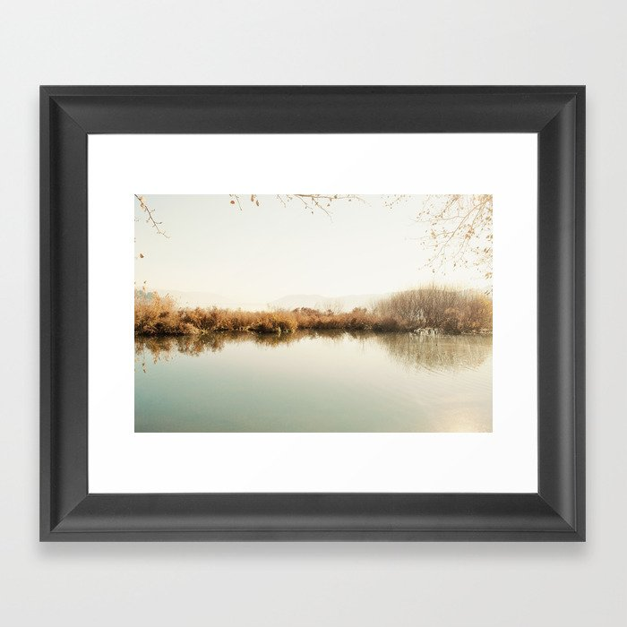Autumn Lake Scene Framed Art Print