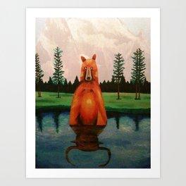 unbearabull market Art Print