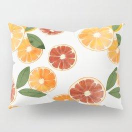 sliced oranges spring watercolor Pillow Sham