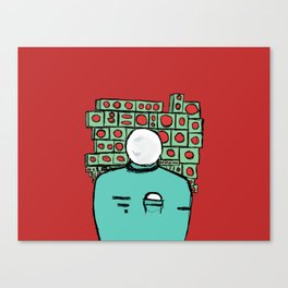 Spaceman and Speakers/Red Canvas Print