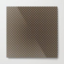 Black and Desert Dust Polka Dots Metal Print
