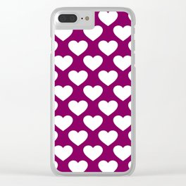 Big Old Hears Aubergine Clear iPhone Case