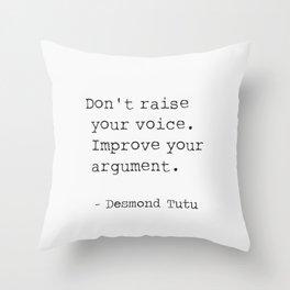 Desmond Tutu Throw Pillow