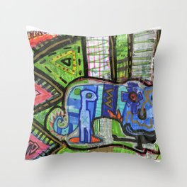 Blue Guy Throw Pillow