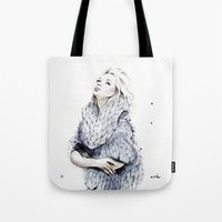 the neighbourhood Tote Bags featuring Falling For You by anna hammer