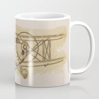 airplane Mugs featuring Airplane by LaDa