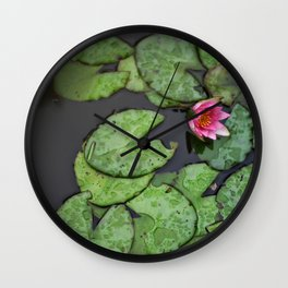 Afloat Lily Pad Nature Photograph Wall Clock