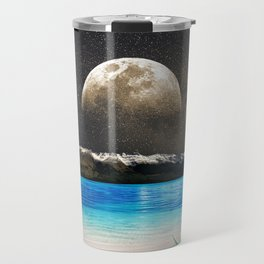 Aloe Vera Moon Beach Travel Mug