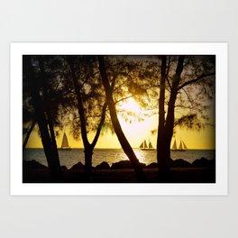Key West Sunset Art Print