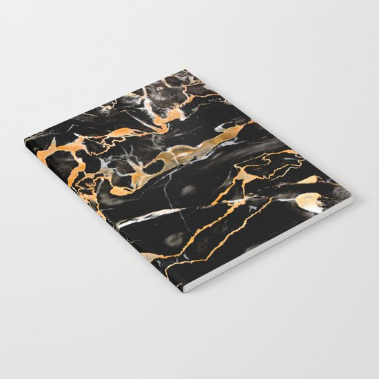 Black & gold marble Notebook