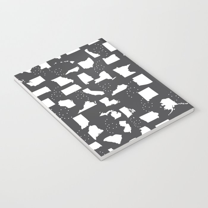 United States Black and White Notebook