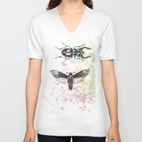 bugs V-neck T-shirts featuring Bugs! by Maria Enache