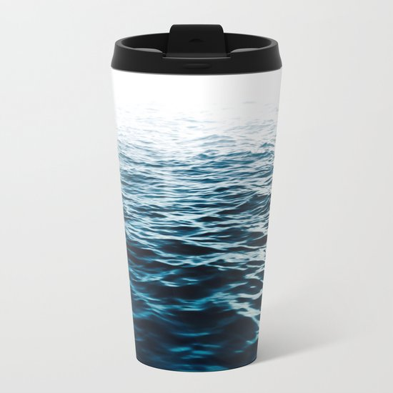 Blue Sea Metal Travel Mug
