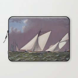 Race for America's Cup by the Puritan and Genesta - 1885 Laptop Sleeve