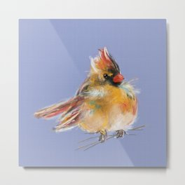 Adorable Female Cardinal - Bird Metal Print