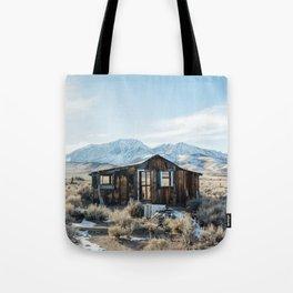 Lone Cabin Scene Tote Bag