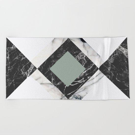 Green Marble Beach Towel