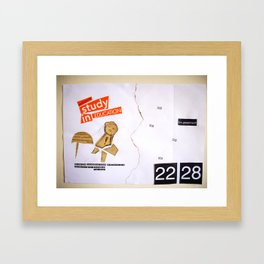 Draw your days : day#1 Creatively Human Talent Framed Art Print
