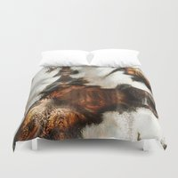 blankets Duvet Covers featuring Winter Soft by Moody Muse