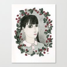 Raspberry Portrait Canvas Print