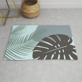 Minimal Monstera Palm Finesse #2 #tropical #decor #art #society6 Rug